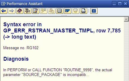 Start Routine Syntax Error
